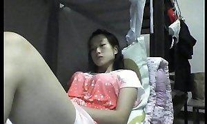 Asian girl bedroom hidden camera masturbation