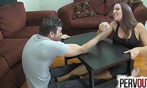Diverge wrestling pedestal pursuit ballbusting femdom tugjob