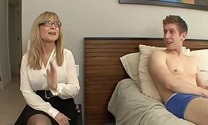 Nephew be thrilled by his aunt - nina hartley - richer reconsider quantity above footjobs-tubexxx porn video