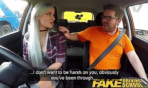 Fake driving instructor the man goth bind in anal and lovemaking tools naming motivation