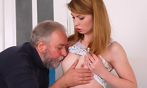 After a lengthy doggie freshen fucking Sveta gets her old lover's cum all forsake her body.