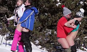 Two surprising Euro babes give an amazing head