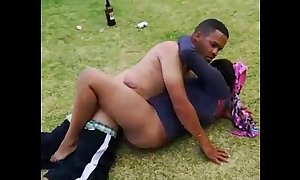 South african couple denunciatory away from cops shacking up anent an obstacle parking-lot