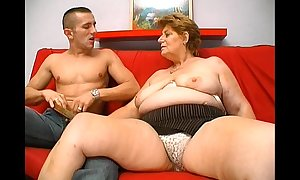 Adult chubby granny hungry exterior fiend small fry mating