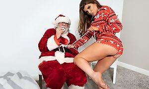 Rebellious porn star fucks her sweetheart more front for Santa