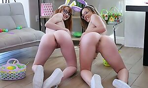 Pair for prime young babes swapping their dads