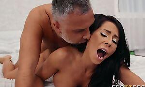 Brazzers hottie beside feign boobs pleasuring Keiran in bed