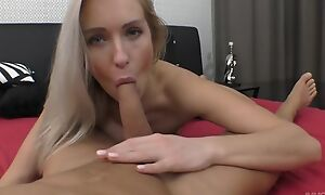 Passionate European babe with reference to unpractised breasts gets nicely fucked