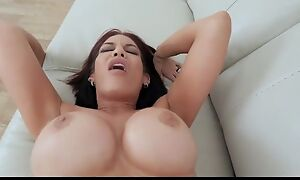 Lusty sex therapist with elephantine melons gets fucked in POV