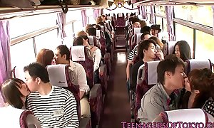 Japanese legal age teenager groupsex take effect hotties on a bus