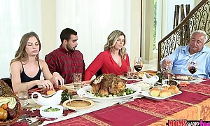 Moms team fuck legal age teenager - nasty family thanksgiving
