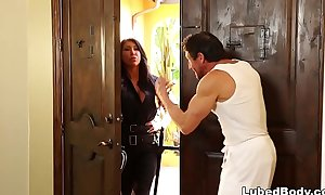 Lonely policewoman lastly gets what that babe needs! # august taylor and tommy gunn