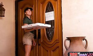 Pizza place delivers new soaked wet crack to your doorstep