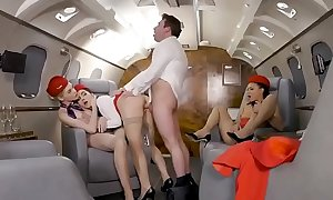 3 stewardesses fuck on private plane  PORNDHL.COM