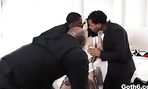 Prepare yourself for a true demons show of the gangbang of our gothic babe Joanna Angel with black devils Prince Yahshua,Isiah Maxwell,Ricky Johnson.