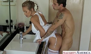 Sexy golden-haired bride nicole aniston fucking