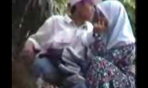 Hijab malaysian cook jerking