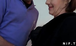 Sextape of a french aged anal drilled