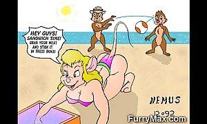 Furry cartoons love schlongs!