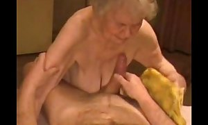 Facial on a very old granny. amateur mature