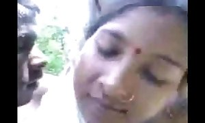 Village pair fucking in forest