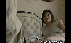 Busty japanese gal acquires tied and drilled hard
