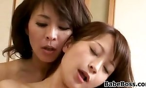 Japanese milf and her step daughter
