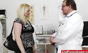 The gynecologist drops into act with elena soaked crack