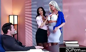 Sexy trio in the office - ava addams, riley jenner