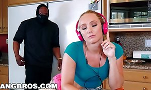 Bangbros - beefy arming aj applegate's taut bawdy cleft behind bf's back