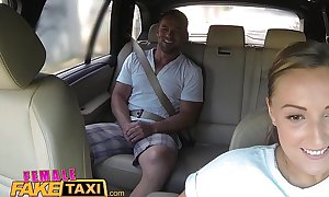 Female fake taxi huge bra buddies cabbie wishes schlong on the backseat