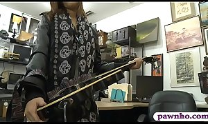 Petite babe sucks off and gets pounded at the pawnshop
