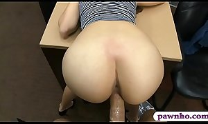 Naughty babe rammed by horny pawn keeper at the pawnshop