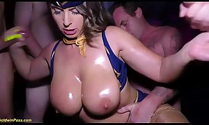 extreme gangbang party with stewardess sexy susi