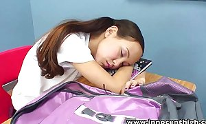 Innocenthigh teacher banging slim oriental legal age teenagers constricted snatch