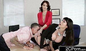 Fantasy teacher vs stepmom threesome for a fortunate man - charlee follow, eva karrera