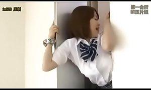 Japanese Yuu Shinoda Stuck in Elevator