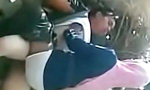 indonesian hijab girl having outdoor sex