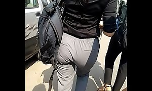 Ass walking mumbai public