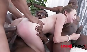 Incredible small bitch angel smalls - interracial double anal - no words!!