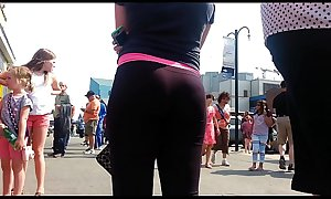 Round Bubble Ass Tight Black Full