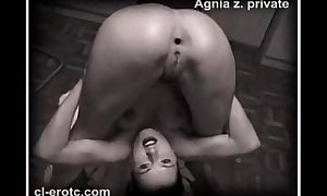 Scant contortionist agnia zemtsova checks around someone's skin flesh around knots exposed to someone's skin floor
